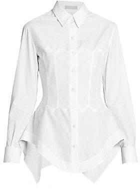 Alaia Women's Cotton Poplin Collared Shirt
