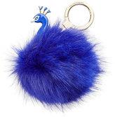 Kate Spade Peacock Pouf Key Charm