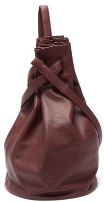 Tsatsas Kilo Grained-leather Shoulder Bag - Womens - Burgundy