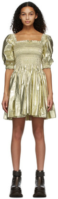 Molly Goddard Gold Hayley Dress