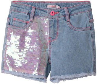 Billieblush Girls Sequin Detail Denim Short - Stone Wash
