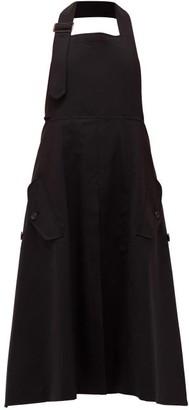 Junya Watanabe Halterneck Wool-blend Poplin Pinafore Dress - Womens - Black