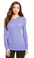 Antonio Melani Riley Crew Neck Cable Sweater