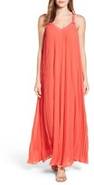 MICHAEL Michael Kors Women's Grommet Strap Pleated Maxi Dress