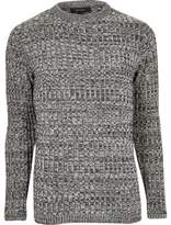 River Island Black Twist Slim Fit Jumper