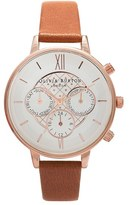 Olivia Burton Women's Chronograph Leather Strap Watch, 38Mm
