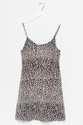 Nasty Gal Womens Paws the Music Animal Mini Dress - Brown - 6