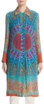 Etro Women's Mandala Print Silk Shirt Topper