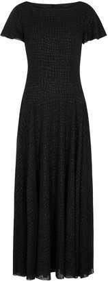 Boutique Moschino Black printed maxi dress