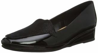Van Dal Verona III Black Patent/Beetle PRT Leather Wedge Shoes D
