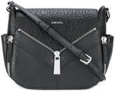 Diesel multi-zips crossbody bag - women - Calf Leather - One Size