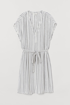 H&M V-neck dress with a tie belt