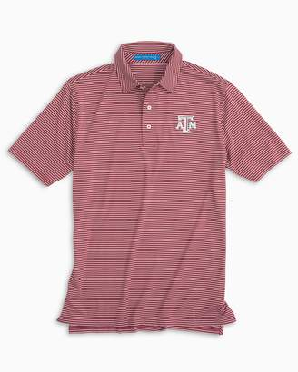 Southern Tide Texas A&M Aggies Striped Polo Shirt