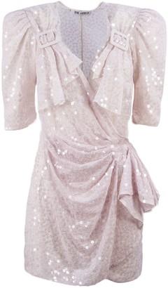 ATTICO pat Iridescent Rose Mini Wrap Dress