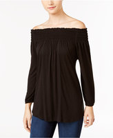 Style&Co. Style & Co. Off-The-Shoulder Bishop-Sleeve Top, Only at Macy's