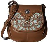M&F Western Calico Kate Conceal Carry Crossbody (Brown) Handbags
