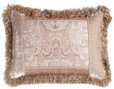 "Dian Austin Couture Home Dahlia Pieced Pillow with Fringe, 16"" x 24"""