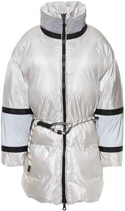 Ienki Ienki Fireman Color-block Quilted Shell Down Hooded Coat