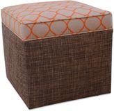 Somers Furniture New American Home 18-Inch Rattan Cube Ottoman with Sunbrella® Fabric in Orange