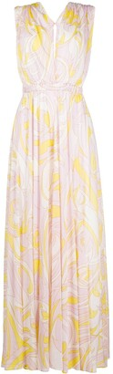 Emilio Pucci Abstract-Print Maxi Dress