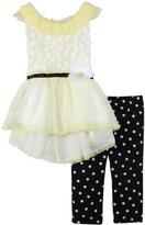 Little Lass 2 Piece Fancy Set (Toddler) - Yellow-2T