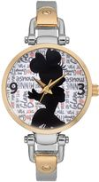 "Disney Disney's Minnie Mouse ""Glam Dots"" Women's Half Bangle Watch"