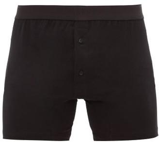 Sunspel Logo Cotton-jersey Boxer Briefs - Mens - Black