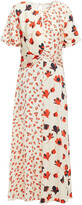 Thumbnail for your product : Self-Portrait Pleated Floral-print Satin-jacquard Maxi Dress
