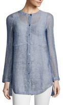 Eileen Fisher Linen-Blend Mesh Shirt