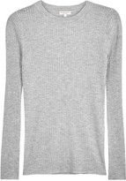 Demy Lee Grey Ribbed Fine-knit Wool Jumper