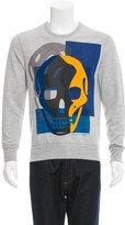 Alexander McQueen Skull Graphic Crew Neck Sweatshirt