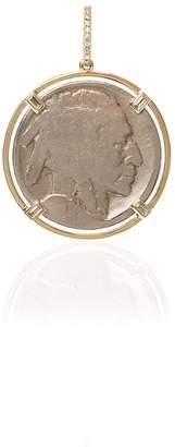 Buffalo David Bitton Rosa De La Cruz 18kt yellow gold diamond coin pendant