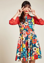 Hour by Flower A-Line Dress in Retro Blossom in 1X