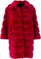 Simonetta Ravizza cropped sleeve panelled coat