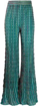 M Missoni Flared Contrast Trim Trousers