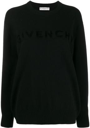 Givenchy Lettering Logo Oversized Jumper