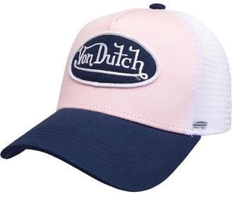Von Dutch Womens Vista Trucker Cap White/Light Pink/Navy