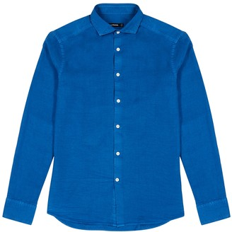 J. Lindeberg Fredrik blue Lyocell shirt