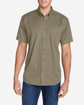 Eddie Bauer Men's Signature Twill Classic Fit Short-Sleeve Shirt - Solid