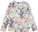 Molo Ruth Long-Sleeve Floral Jersey Tee, Multicolor, Size 3-10