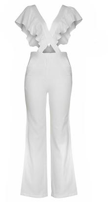 Imaima Safira Jumpsuit In White