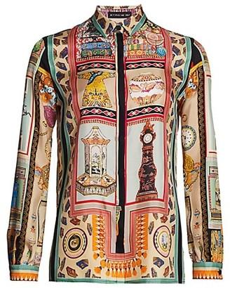 Etro Heritage Collage Silk Shirt