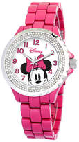 Disney Princess Disney Minnie Mouse Womens Pink Enamel Watch with Crystals