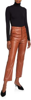 Nour Hammour Leather Capri Pants