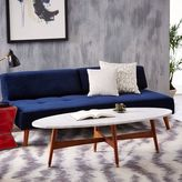 west elm Reeve Mid-Century Oval Coffee Table - Marble Top
