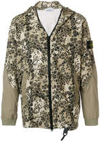 Stone Island camouflage zipped jacket