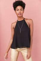 Ecote Phoebe Mesh Inset High Neck Tank Top