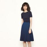 Maje Two-tone striped knit dress
