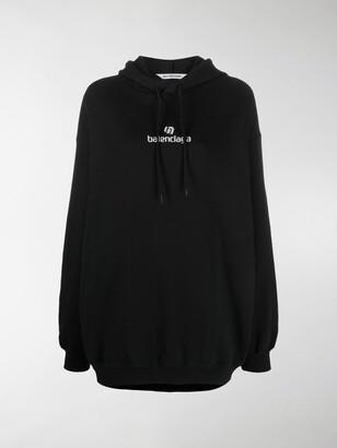 Balenciaga Sponsor logo oversized hoodie
