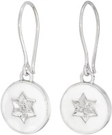 Harry Rocks North Star Enamel Earrings White Silver